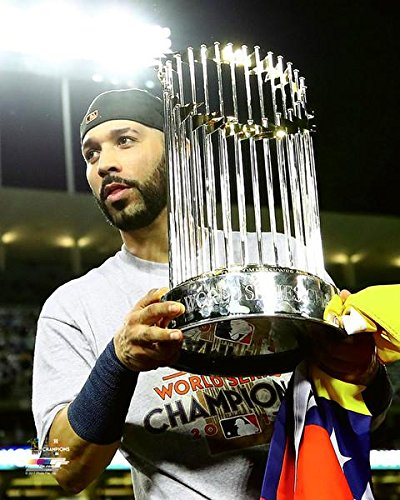 "Marwin Gonzalez Houston Astros 2017 World Series Trophy Photo (Size: 8"" x 10"")"