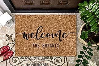 product image for Custom Doormat Personalized Doormat Gift Welcome Doormat Front Door Mat Monogram Rug Coir Outdoor/Indoor Mat