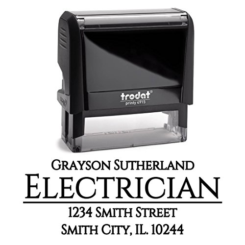 Business Self Inking Stamp - Return Address Stamp Office - Personalized - Custom Rubber Stamp – Company Branding – Professional Address Labels – Large 3 Lines – Business Customized Stamp Large Business Address Stamp