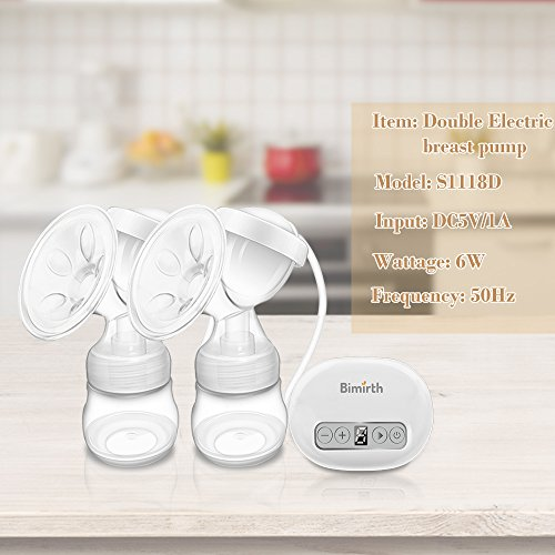 Breast Pump,Electric Double Breast Feeding Pumps Comfort Breastfeeding Breast Pump Milk Pump,with 9 Levels Breast Massager Suction by JINGOU (Image #1)
