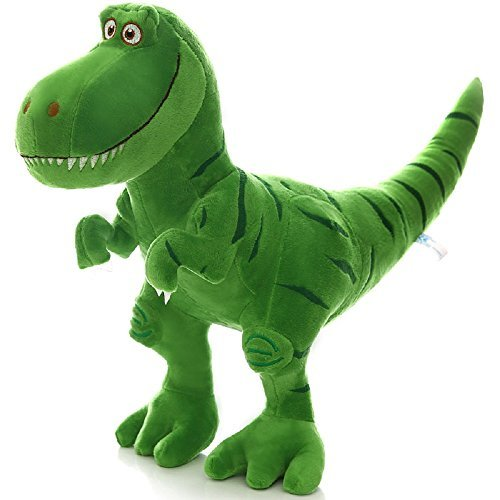 MAXYOYO Kids Green Dinosaur Stuffed Plush Doll Length 30CM Height 28CM, Ultra Soft Boys Girls Dinosaur Cushion Toy, Gift for Baby/Children/Teen -