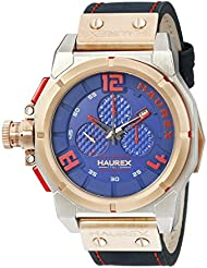 Haurex Italy Mens 6N510UBR Space Chrono Analog Display Quartz Blue Watch