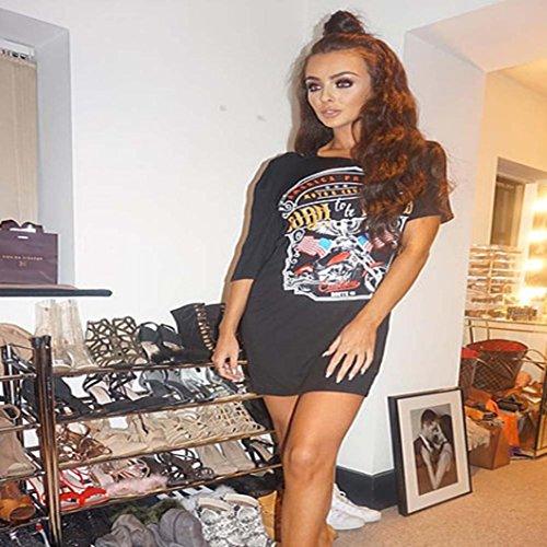 Donna Lunga Nero Gonna T Vintage Con Vestito Moda Con Spalle Mini Da Oyedens Stile Abito Shirt Donna Scoperte gqw0PwCA