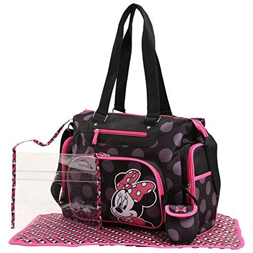 Disney Minnie Mouse Tonal Dot Print Five Piece - Minnie Mouse Baby Diaper Bag