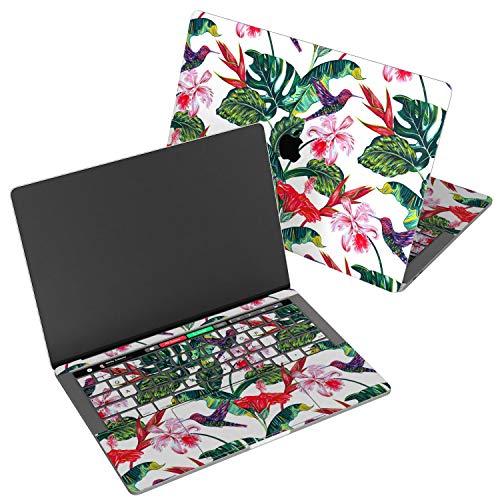 (Wonder Wild Skin for MacBook Decal Vinyl Air 11 inch 15 Apple Mac 13 Retina 12 Pro 15 Keyboard 2019 2018 2017 2016 2015 Protective Sticker Hummingbird Floral Leaves Flowers)