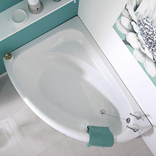 Hudson Reed Eckbadewanne - Badewanne aus Acryl in Weiß - 1500 x 1020 mm - Linksbündig - Inkl. Verkleidung