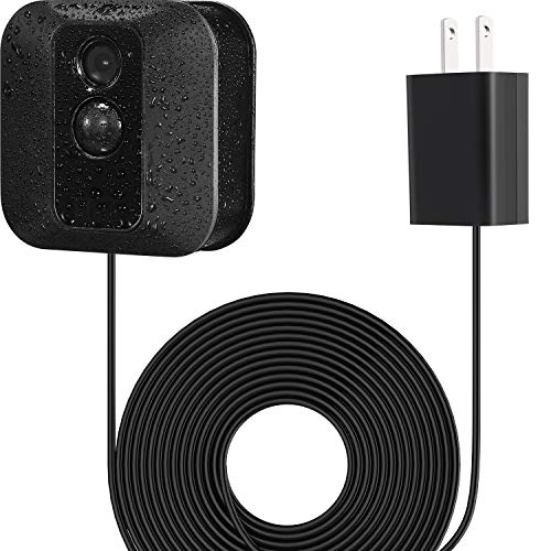BBTO Power Adapter with 20 ft/6 m Weatherproof Cable for Blink Outdoor XT/Indoor Home Security Camera, Continuously Operate Blink Security Camera, No Need to Change The Battery (Black)