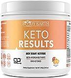 Exogenous Ketone Weight Loss Supplement: Body Earth Beta Hydroxybutyrate BHB Ketones for Fat Burning,Ketosis,Energy & Focus-Healthy Ketogenic Salts with Magnesium Sodium & Calcium-Orange Mango