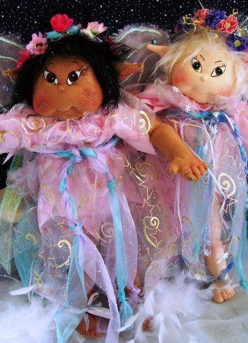 Fairy Doll Pattern (Cloth Soft Sculpture Toddler Fairy Doll Pattern with Instruction CD/49/Magic Wings – 20 Inches Tall-Made From Craft Velour)