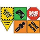 "Video Game Party Sign 6"" Cutouts, Video Game Party Decorations, Gaming Party Supplies, Room Decorations, Party Signs"