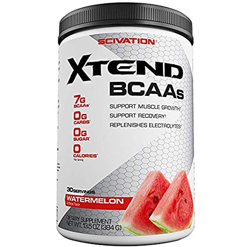 Scivation Xtend BCAA Powder, Branched Chain Amino Acids, BCAAs, Watermelon  Explosion, 30 Servings