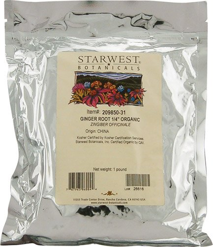 Starwest Botanicals Organic Ginger Root Cut and Sifted -- 1 lb - 2 pc