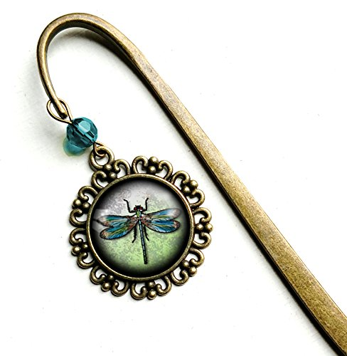 Dragonfly brass book hook bookmark by The Divine Iguana