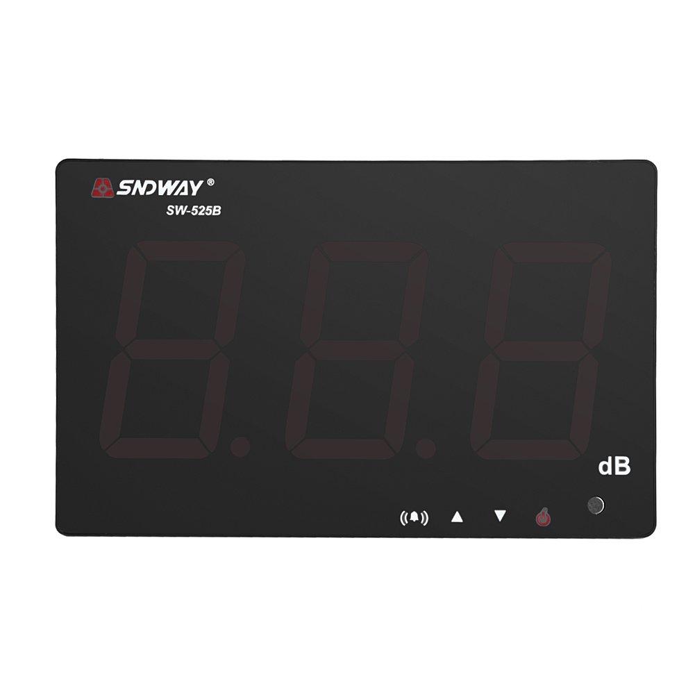 Garosa Sound Level Meter SNDWAY USB Powered 9.6'' 30-130dB LCD Digital Noise Tester Wall Hanging Volume Measurement SW-525B by Garosa