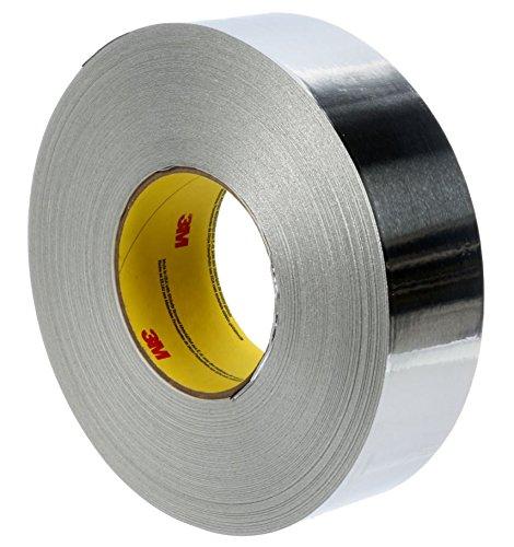 3M 96019-case  Foil Tape 2C120 Natural, 48 mm x 45.7 m 1.8 mil, Aluminum (Pack of 24)