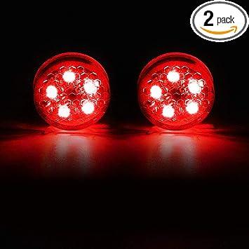 2Pcs Car LED Door Opened Anti-collision Warning Lights Red Strobe Flash Wireless