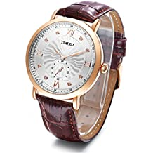 Time100 Multifunctional Genuine Leather Strap Quartz Luminous Men's Watch#W80097G.03A