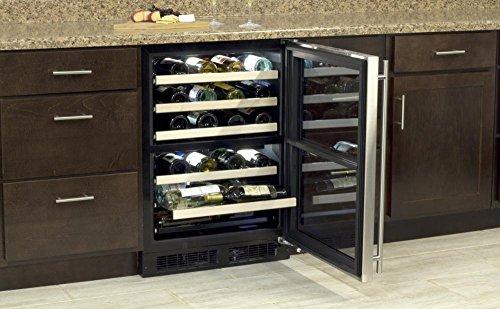 (Marvel ML24WDF3RP High Efficiency Dual Zone Wine Cellar, 24