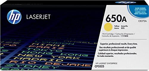 HP 650A (CE272A) Yellow Original LaserJet Toner Cartridge