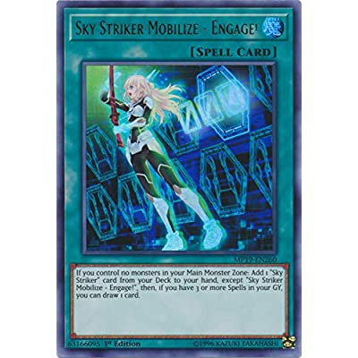 Yu-Gi-Oh! - Sky Striker Mobilize - Engage! - MP19-EN260 - Ultra Rare - 1st Edition - 2020 Gold Sarcophagus Tin Mega Pack: Toys & Games