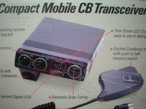 General Electric GE Compact Mobile CB Transceiver