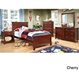 furniture of america kennedy platform youth bed cherry cherry finish twin