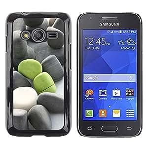 Paccase / SLIM PC / Aliminium Casa Carcasa Funda Case Cover - Deep Meaning Green Grey Beach - Samsung Galaxy Ace 4 G313 SM-G313F