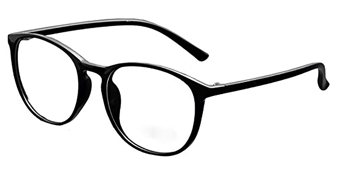 DEDING Retro Round Clear Lens Eyeglasses clear)
