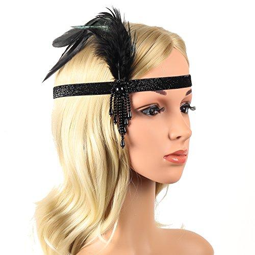 Beelittle 1920s Accessories Headband Earrings Necklace Gloves Cigarette Holder (G8)