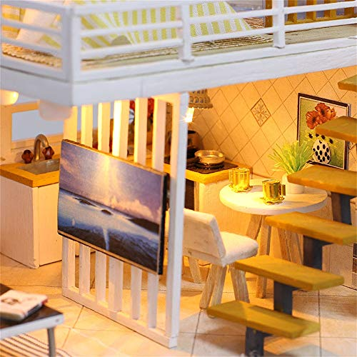 PSFS 3D Wooden DIY Miniature House, Furniture LED House for sale  Delivered anywhere in USA