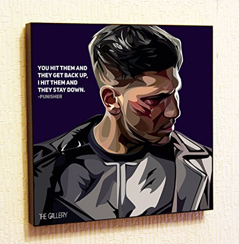 Punisher Marvel DC Comics Super Hero Motivational Quotes Wall Decals Pop Art Gifts Portrait Framed Famous Paintings on Acrylic Canvas Poster Prints Artwork Geek (10x10