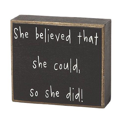 Collins So She Did Decorative Box Sign