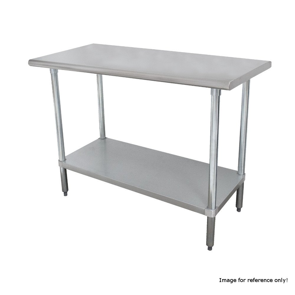 Advance Tabco SLAG-185 60''W x 18''D Work Table with 16 Gauge 430 Stainless Steel Top & Stainless Undershelf by Advance Tabco