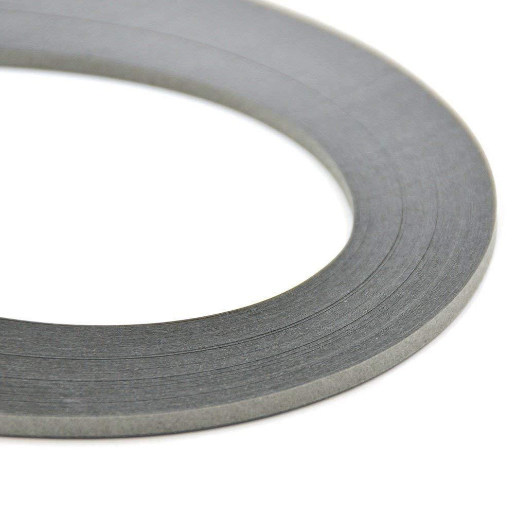 ODETOJOY Papier Quilling Streifen 5mm grau dunkelgrau Quilling Papierstreifen Quilling Papier 5mm Quilling Streifen 5mm grau 52cm 240 St/ücke