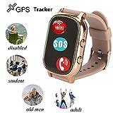 Original Kids GSM GPS Tracker Hangang For Children Kid Smart watch Phone Smart bracelet T58 Children Watches Anti-lost Tracker Locator (gold)