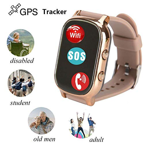 Hangang GPS Tracker For Kids Children Smart Watch Kids Wrist Watch T58 Anti-lost SOS Call Location Finder Remote Monitor Pedometer Functions Parent Control iPhone Android Smartphones APP (gold)(T58G) by Hangang (Image #4)
