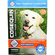 COSEQUIN Maximum Strength Joint Supplement Plus MSM & Omega-3's - With Glucosamine and Chondroitin - For Dogs of All Sizes (Soft Chews)