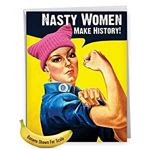Amazon Retro 85 X 11 Inch Happy Birthday Card For Women