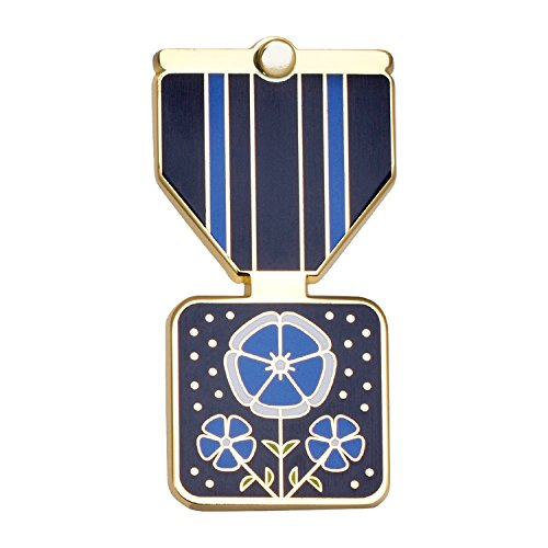 FLAX Greeting Card & Gift (Lapel Pin / Necklace Charm) for Kindness by Merit Medals