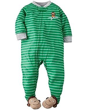 Carter's Baby Boys' Striped Footie-Monkey