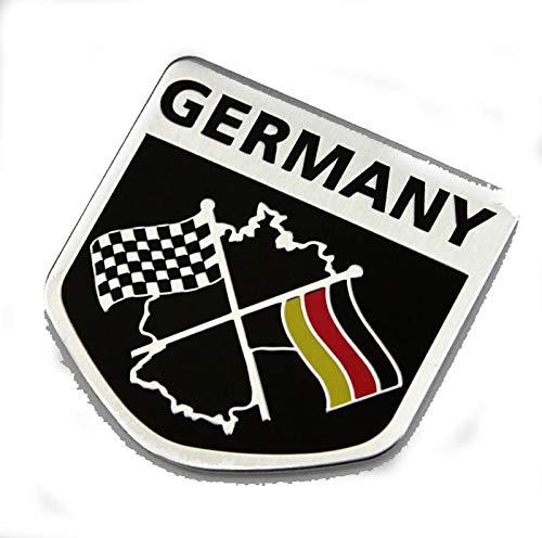 3D Metal Sport Racing German Emblem Auto Car Side Fender Rear Trunk Emblem Sticker Badge Decals - German Sports Badge