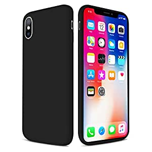 iPhone X Case, Liquid Silicone Protective Case for Apple iPhone X (2017), Adopted Honeycomb Texture Inside, Heat Dissipation Cover [Upgraded Ultra Slim Series] by Ainope