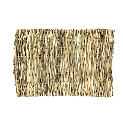 Natural Handmade Woven Pets Grass Mats Hay Mats for Rabbits, Guinea Pigs, Chinchillas, Hamsters by Flying Spoon