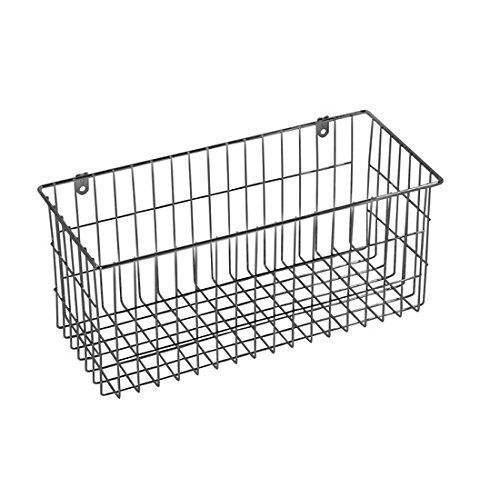 Great & Quality More Inside Large Silver 13.5'' x 6'' Mountable Chrome-Plated Steel Wire Storage Basket