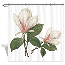 CafePress - Vintage Botanical Art, Elegant Magnolia Flower. Sh - Decorative Fabric Shower Curtain