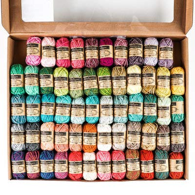 Scheepjes Stone Washed/River Washed 58 Count Colour Pack (10 Gram), Sport Weight Yarn