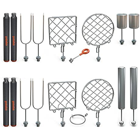 Grubstick Master 21 Piece Kit Your Last Roasting Stick Premium Campfire 37 Telescoping Extendable Reusable Skewer Kit For Marshmallows Hot Dogs Smores And More Dishwasher Safe