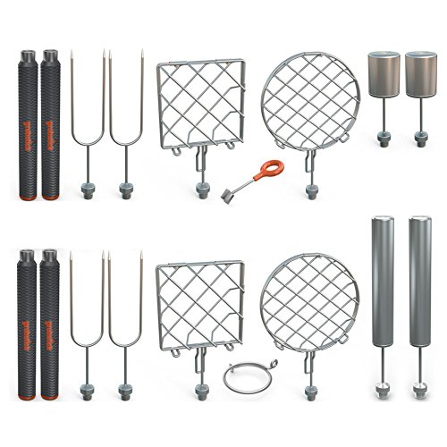 Grubstick Master 21 Piece Kit- Your Last Roasting Stick | Premium Campfire 37'' Telescoping/Extendable Reusable Skewer Kit | For Marshmallows, Hot Dogs, Smores, and More - Dishwasher Safe by Grubstick
