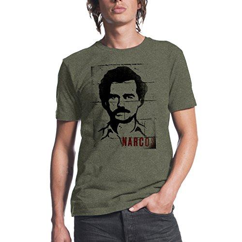 narcos-pablo-escobar-mugshot-mens-burnt-olive-heather-t-shirt-m