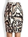 Diane von Furstenberg Women's Mae Mikado Pencil Skirt, Leopard Bark, 8